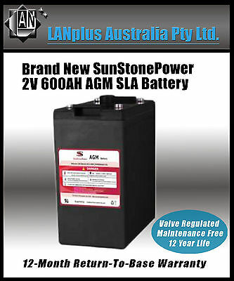 AU399 • Buy NEW 2V 600AH Sealed AGM Deep Cycle Maintenance Free Solar Battery UPS Storage