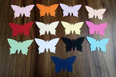 £1.99 • Buy 20 X 3 Inch 7cm LARGE BUTTERFLY SHAPE CARD TOPPER TABLE DECORATION CONFETTI ART