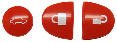 AU8.89 • Buy 3 Holden Commodore / Chevrolet Red Hot Key Buttons VS VT VX VY VZ WH WK WL
