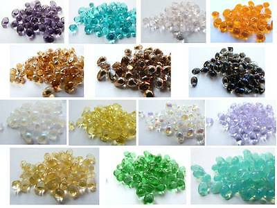 60 X 6/4MM GENUINE CZECH GLASS MINI TEARDROP DROP BEADS - CHOICE OF COLOURS  • 1.69£