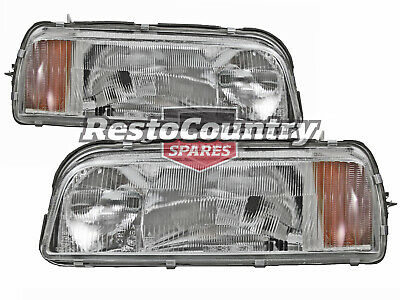 AU149 • Buy Ford Clear Headlight PAIR XF Falcon Fairmont Fairlane Sedan Wagon + XG Ute NEW