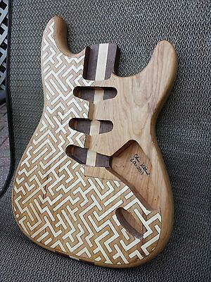 $200 • Buy Unique Cherry Guitar Body With Labyrinth Inlay