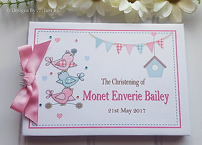 £13.99 • Buy Personalised Baby Christening*naming Day * Baptism * Guest Book *scrapbook