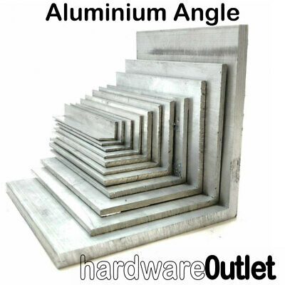 £4.20 • Buy ALUMINIUM Extruded Equal ANGLE - Various Sizes Bespoke Orders Cut To Size In UK