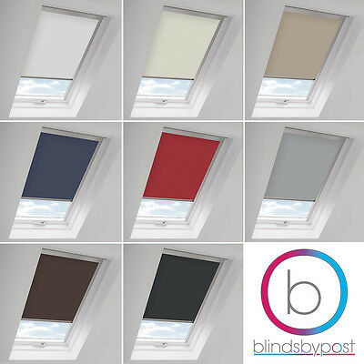 Blackout Skylight Roller Blinds For All Keylite Roof Windows Easy Fit Child Safe • 10£