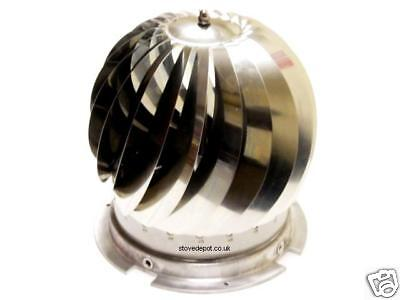 Stainless Steel Spinner Cowl To Suit Round Chimney Pot Anti Downdraught  • 105£