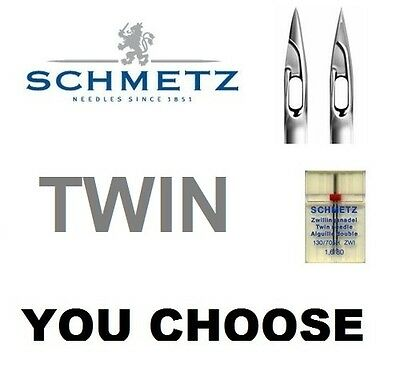 Sewing Machine TWIN Needle Schmetz FULL RANGE In Stock Standard Or Stretch • 4.75£