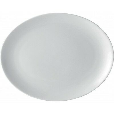 White Oval Plate - 10  - Porcelain Plates - 5 Year Edge Chip Warranty - Box Of 6 • 23.99£