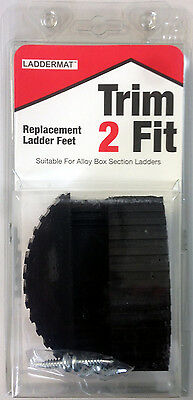 Trim 2 Fit Replacement Ladder Safety Feet Trim To Fit - 1 X Pair (2 Feet) • 10.95£