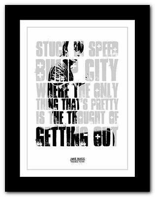 £9.95 • Buy JAKE BUGG Trouble Town ❤ Song Lyric Typography Art Poster Print - A1 A2 A3 Or A4
