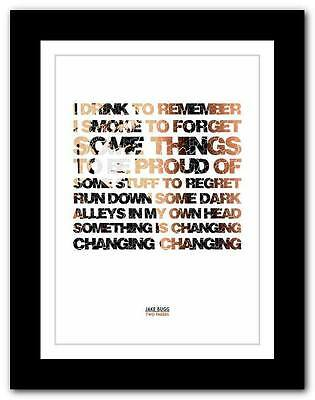 £14.95 • Buy JAKE BUGG Two Fingers ❤ Song Lyric Typography Art Poster Print - A1 A2 A3 Or A4