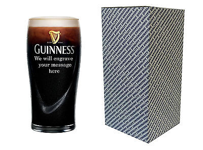 Personalised Engraved Pint Beer Glass - Guinness Gift  • 12.50£