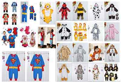 £16.14 • Buy Baby Toddler Fancy Dress Party Superman Animal Costumes Playsuit Size 0-24months