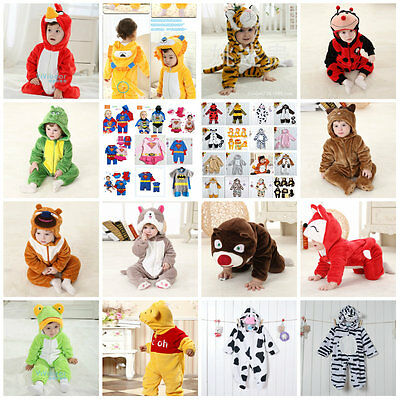Baby Toddler Jungle Animal Cartoon Costumes Fancy Dress Playsuit Size 3-24months • 16.99£