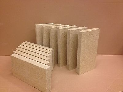 £40 • Buy Pack Of 25 Vermiculite Fire Bricks 230mm X 114mm X 25mm Thick High Density