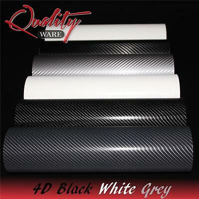3D 4D Carbon Fibre Vinyl Wrap Air Free Self Adhesive Bubble Free Film • 5.19£