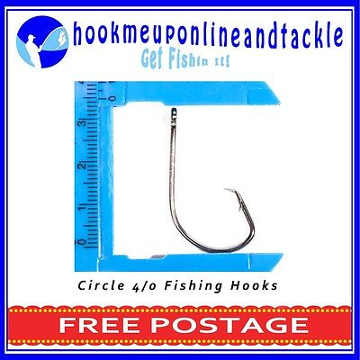 AU9 • Buy 50 X Sport Circle/Mustu Hooks Chemically Sharpened In Different Sizes