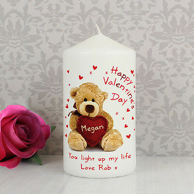 AU20.27 • Buy Happy Valentines Day PERSONALISED Message Candle - Gift For Him Or Her