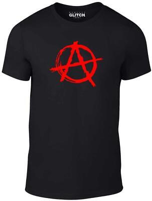 Anarchy Symbol T-Shirt - Punk Rock T Shirt Bedlam Evil Anarchist War Rocker • 9.99£