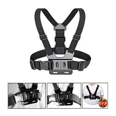AU10.83 • Buy Chest Strap Mount Harness For GoPro HD Hero 3 4 5 6 7 8 9 10 Elastic Adjustable