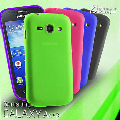 £2.70 • Buy Matte Gel Case For Samsung Galaxy ACE 3 + Screen Guard TPU Jelly Soft Cover