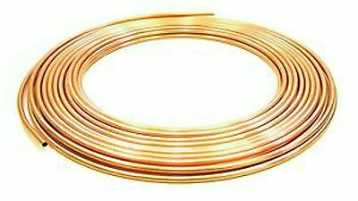 10 METRE COILS OF 4MM/5MM/6MM/8MM/10MM COPPER PIPE/Tube/plumbing/water/gas/diy • 19.99£