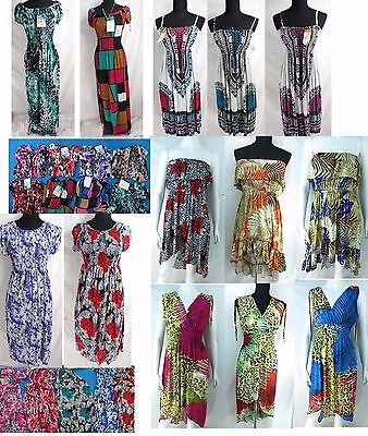 $92 • Buy Lot Of 10 Wholesale Bulk WhHippie Clothing Bohemian Halter Long Dress