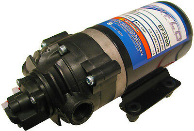 EVERFLO 12 Volt 2.2 GPM Diaphragm Water Transfer Pump For Motorhomes / Trailers • 55.74£