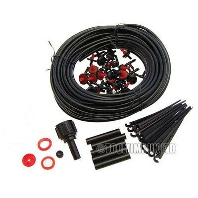 23m Micro Irrigation Watering Kit Automatic Garden Plant Greenhouse Drip System • 6.49£