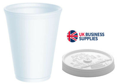 10oz Insulated Polystyrene Foam Poly Cups 2 X 1000 (2000 Cups) - UKB410 • 54.49£