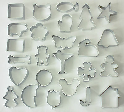 Metal Cutters, 25 Different Shapes Available, Sugarcraft, Biscuits • 2.20£