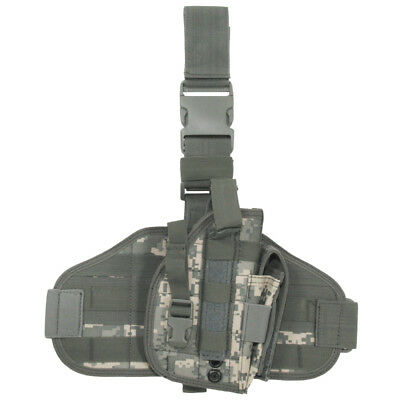 Tactical Pistol Holster Molle System Leg Panel Range Shooting Acu Digital Camo • 17.95£