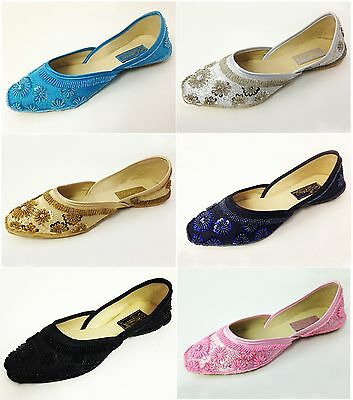 $12.89 • Buy New Women's Satin Ballet Flats Sequins Beads Fashion Slip-on Shoes Colors, Sizes