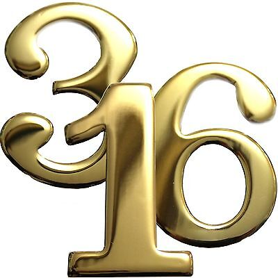 $4.50 • Buy 2  Brass Numbers Better Box Mailboxes Brass Mail Box Numbers 2 Inch Brass Number