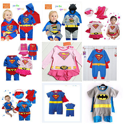 Baby Toddler Superman Costumes Fancy Dress Party Jumper Gift Size 3-24months!! • 10.99£
