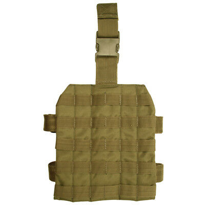 Army Tactical Modular System Leg Panel Platform Molle Webbing Airsoft Coyote Tan • 14.95£