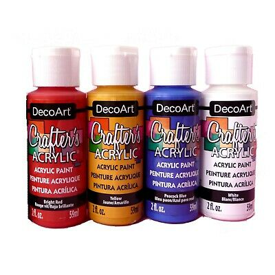 Acrylic Paints Set Standard 59ml Red Blue Yellow Black White - Pack Of 5 • 11.99£