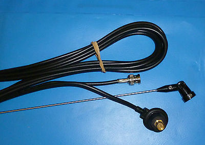 £24 • Buy LOW BAND BODY MOUNT ANTENNA & HINGED WHIP 72 - 108 Mhz TAXI PMR FARM BNC