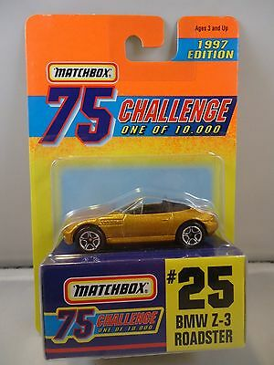 $5.99 • Buy Matchbox 75 Challenge #25 BMW Z-3 Roadster 1997