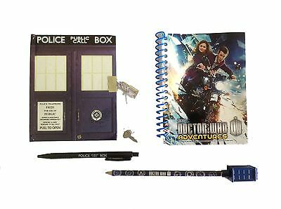 Doctor Who TARDIS NOTEPAD, Pen & Pencil Stationary Set - Notebook - NEW • 4.99£