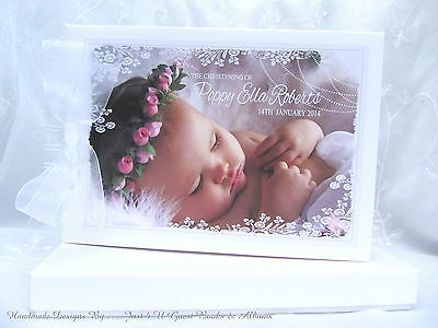 £19.99 • Buy Personalised With Your Own  Photo * Christening * Naming Day* Baptism Guest Book