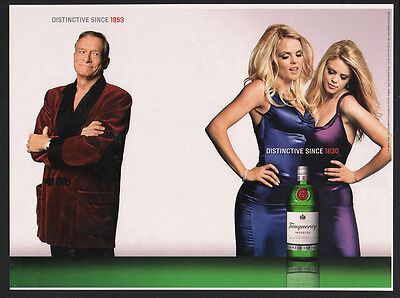AU19.59 • Buy 2002 TANQUERAY London Dry Gin - HUGH HEFFNER VINTAGE AD