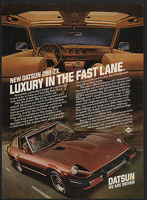 $12.99 • Buy 1981 DATSUN 280-ZX Luxury Sports Car - T Top -  VINTAGE AD