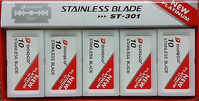 $8.29 • Buy 100 Dorco ST301 Double Edge Razor Blades - Stainless Blades - FAST Shipping