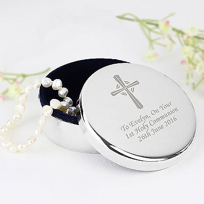 £14.97 • Buy Personalised Cross Rosary Box First Holy Communion Christening Confirmation Gift