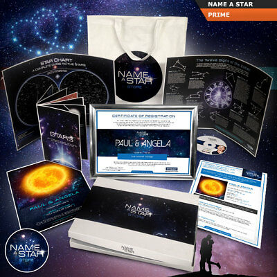 Name A Star Gift Set Fully Personalised Value Pack Or Upgrades With Gift Box • 17.99£