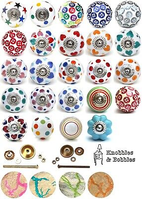 Shabby Chic Cupboard Door Knobs Handles Drawer Pulls. Ceramic And Resin Knobs. • 2.49£