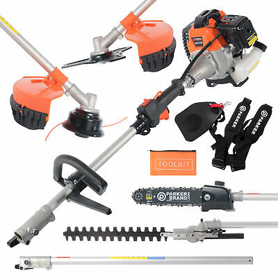 View Details 52cc Multi Function 5 In 1 Garden Tool - Brush Cutter, Grass Trimmer, Chainsaw, • 159.99£