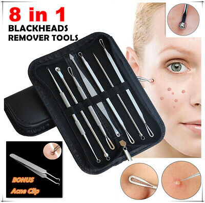 AU10.95 • Buy Blackhead Extractor Tool Remover Pimple Blemish Comedone Kit Skin Care Acne Clip