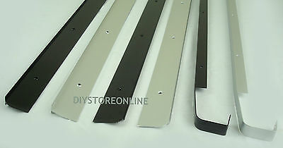 Kitchen Worktop Joining Strips End Straight Corner Joint Black Silver 30 & 40mm • 6.20£